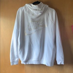 White and gold Nike hoodie
